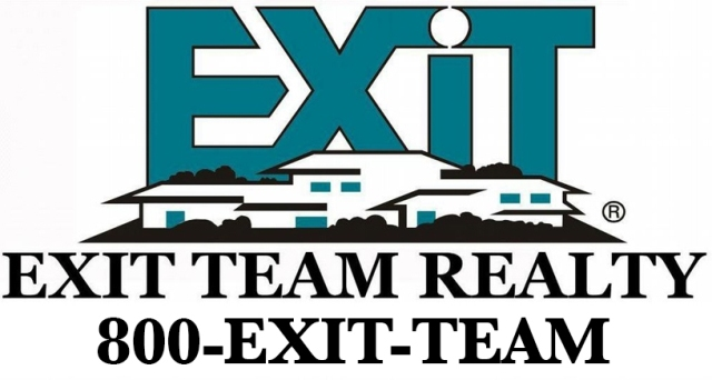 Exit Realty sign using 1-800-EXIT-TEAM