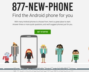 Android phone banner using 1-877-NEW-PHONE