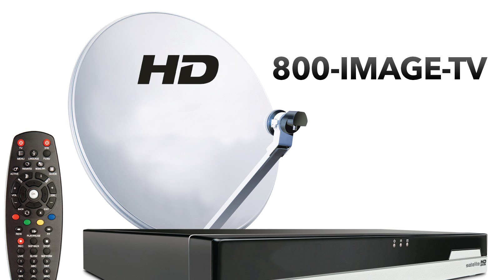 TV Satellite and remote control using 1-800-IMAGE-TV
