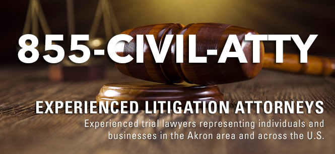 Attorney sign with a gavel using 1-855-CIVIL-ATTY