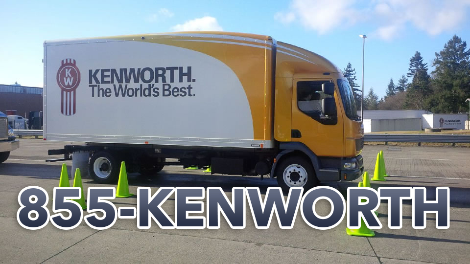 Kenworth truck using 1-855-KENWORTH