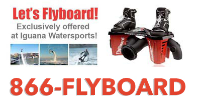 Let's flyboard website banner using 1-866-FLYBOARD