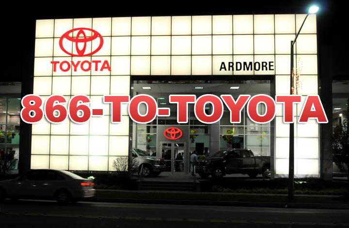Toyota Dealership building front using 1-866-TO-TOYOTA
