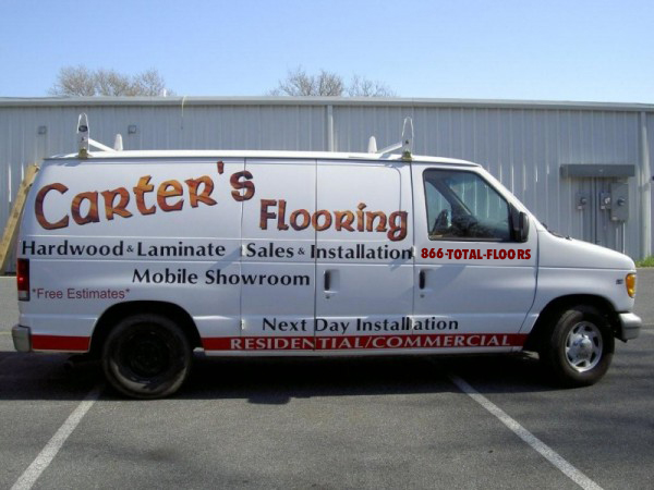 Flooring van using 1-866-TOTAL-FLOORS