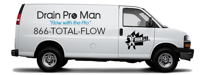 Drain Pro Man van using 1-866-TOTAL-FLOW
