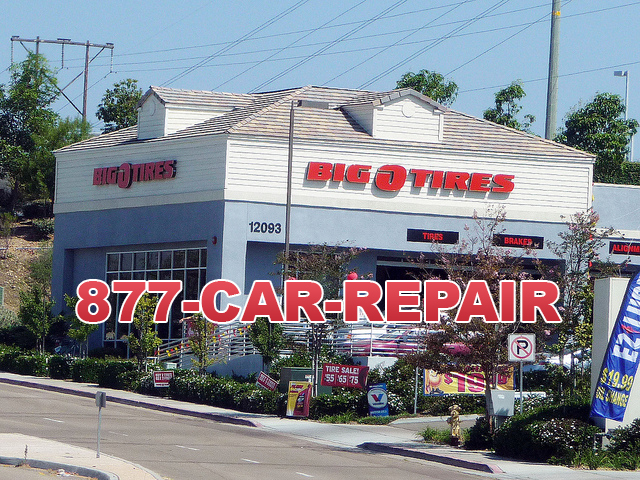 Big Tires store using 1-877-CAR-REPAIR