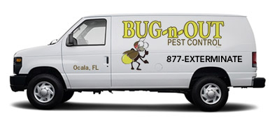 Pest control van using 1-877-EXTERMINATE